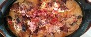 Chicken, nachos and cheese. 7/10