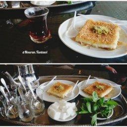 اشهى الشاي و الكنافة التركية ❤