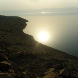 البحر الميت منظر من قلعة الكرك