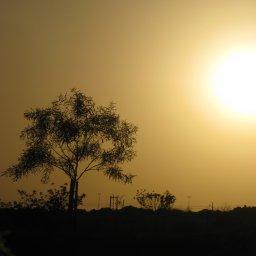 غروب الشمس عند وادي حنيفة