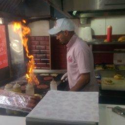 preparing makers burger... the first item in the menu