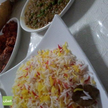 أرز برياني سادة + كيما