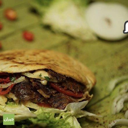 تذوقوا شاورما لحمة ابو حاتم , شاورما بالخبز العربي , اشهى شاورما تجدونها لدى ابو حاتم , ابو حاتم شارع المدينة المنورة