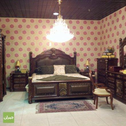 غرفة نوم بلون بني داكن فخمة جدآ   الصبان للمفروشات   حي السلامة