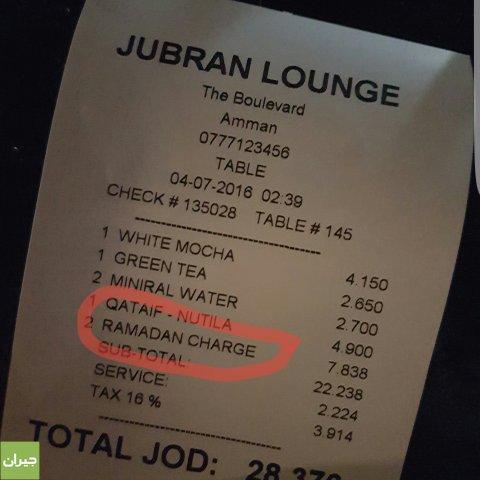 Jubran Restaurant Amman Menu