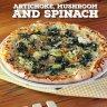Artichoke mushroom and spinach pizza :: كازاريتشو